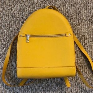 Zara Mini Backpack Faux Leather in Good Condition